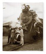 S P Baldwin Locomotive 2285  Class T-26 Ten Wheel Steam Locomotive At Pacific Grove California 1910 Fleece Blanket
