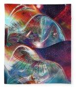 Space Bubble Fleece Blanket