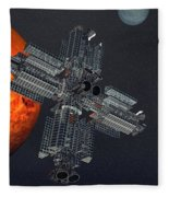 Space Colony Fleece Blanket