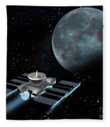 Space Exploration, Moon, Illustration Fleece Blanket