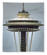 Space Needle Tower Seattle Washington Fleece Blanket