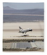 Space Shuttle Atlantis Landing Fleece Blanket