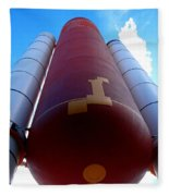 Space Shuttle Fuel Tank And Boosters Fleece Blanket