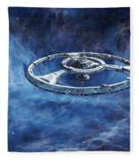 Deep Space Eight Station Of The Future Fleece Blanket