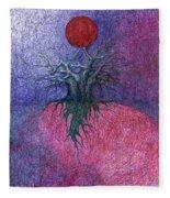 Space Tree Fleece Blanket
