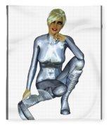 Spacegirl 8... Fleece Blanket