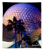 Spaceship Earth Fleece Blanket