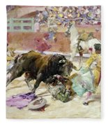 Spain - Bullfight C1900 Fleece Blanket