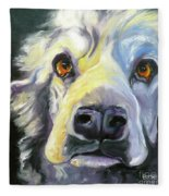 Spaniel In Thought Fleece Blanket