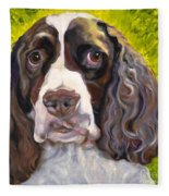 Spaniel The Eyes Have It Fleece Blanket