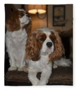 Spaniels Fleece Blanket