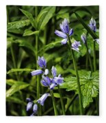Spanish Bluebells Fleece Blanket