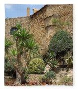 Spanish Church Garden Fleece Blanket