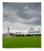 Spanish City At Whitley Bay Fleece Blanket