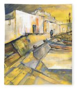 Spanish Harbour 05 Fleece Blanket