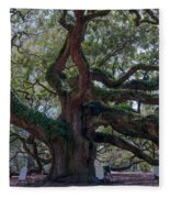 Spanish Moss Draped Limbs Fleece Blanket