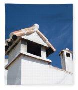Spanish Rooftops Fleece Blanket