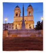 Spanish Steps Dawn Fleece Blanket