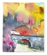 Spanish Village By The River 01 Fleece Blanket