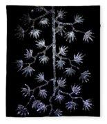 Sparkling Diamond Snowflakes Fleece Blanket