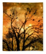 Sparkling Stars Light The Sky Fleece Blanket