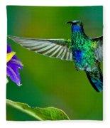 Sparkling Violetear Fleece Blanket