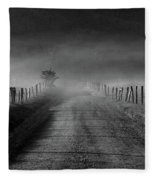Sparks Lane In Black And White Fleece Blanket
