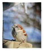 Sparrow 5   Fleece Blanket
