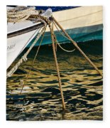 Sparrow At Lyme Regis Fleece Blanket