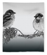 Sparrow Digital Art Fleece Blanket