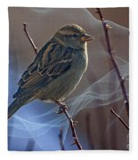 Sparrow In A Weave Fleece Blanket
