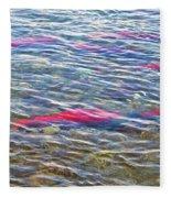 Spawning Salmon In Moraine River In Katmai National Preserve-ak Fleece Blanket