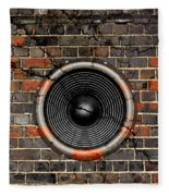 Speaker On A Cracked Brick Wall Fleece Blanket
