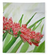 Spear Lily Fleece Blanket