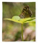 Speckled Wood Butterfly Fleece Blanket