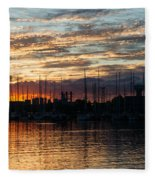 Spectacular Sky - Toronto Beaches Marina Fleece Blanket