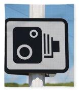 Speed Camera Sign Folkestone Fleece Blanket