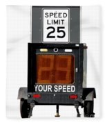 Speed Limit Monitor Fleece Blanket