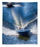 Speed On The Water Fleece Blanket