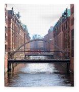 Speicherstadt Hamburg Fleece Blanket