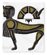 Sphinx - Mythical Creature Of Ancient Egypt Fleece Blanket