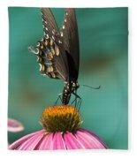 Spicebush Swallowtail Butterfly - Papilio Troilus Fleece Blanket