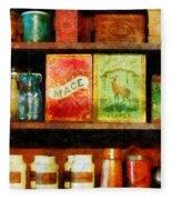Spices On Shelf Fleece Blanket
