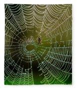 Spider In Web 3 Fleece Blanket