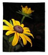 Spider On Rudbeckia Fleece Blanket