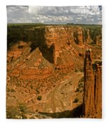 Spider Rock - Canyon De Chelly Fleece Blanket