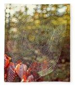 Spider Web Fleece Blanket