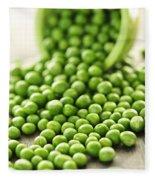 Spilled Bowl Of Green Peas Fleece Blanket
