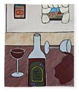 Essence Of Home - Spilt Glass Of Wine Fleece Blanket