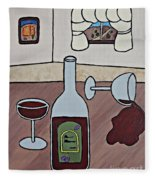 Essence Of Home - Spilt Wine Fleece Blanket